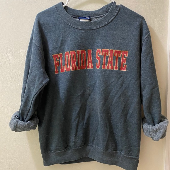 Thrifted Florida State Pullover